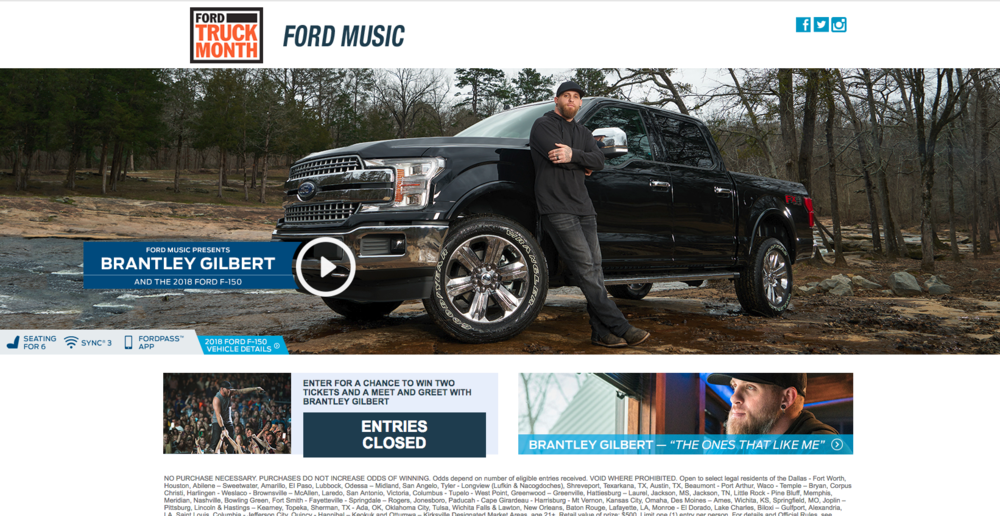 Screen shot of our image on Ford Music's website.  To see the interview and video click  here .