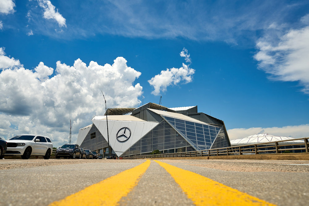 atlanta commercial photography mercedes benz stadium