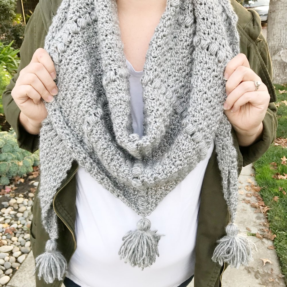 The Emerson Triangle Scarf-Free Crochet Pattern — Meghan Makes Do