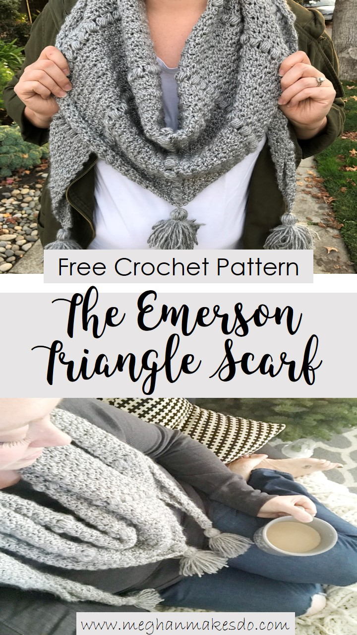The Emerson Triangle Scarf Free Crochet Pattern Meghan Makes Do