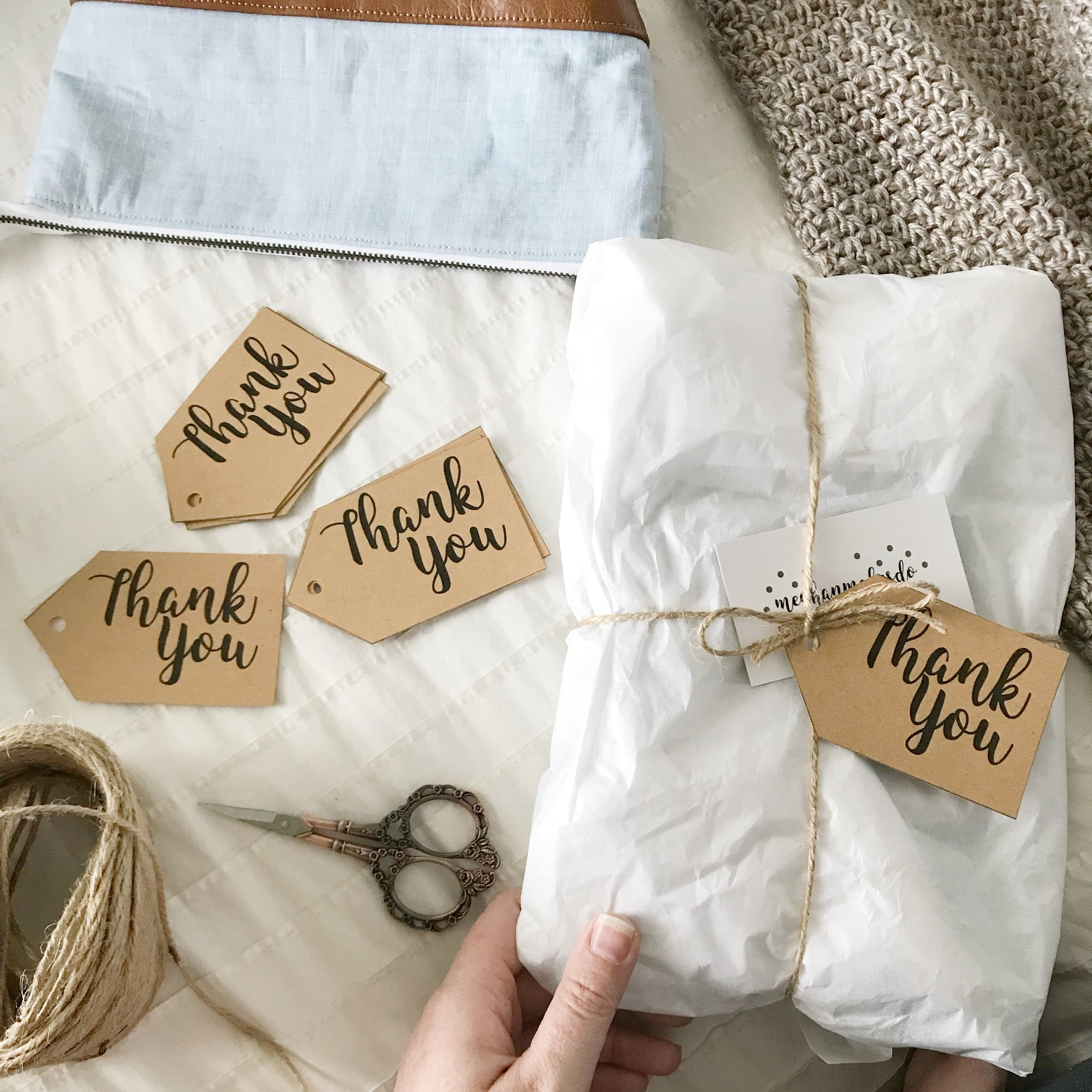 image about Thank You Tag Free Printable titled Free of charge Printable Thank By yourself Tags Meghan Creates Do