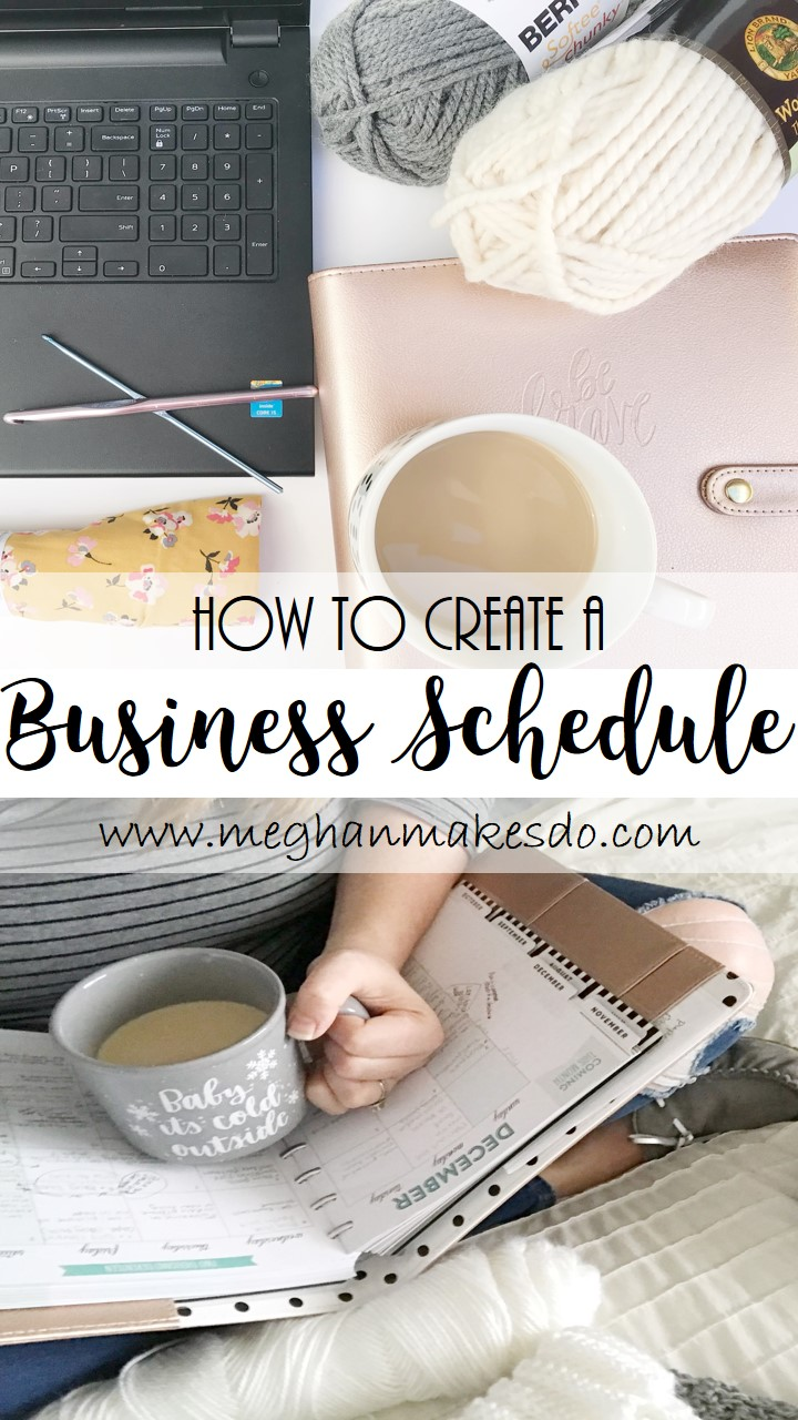 how to create a business schedule