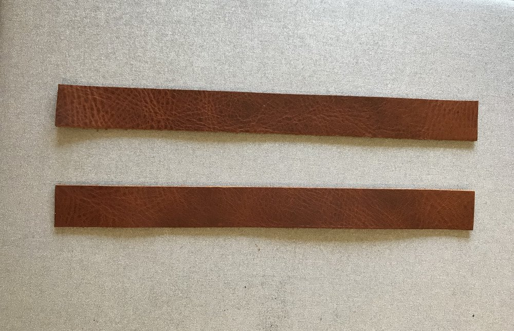 leather handles for basket