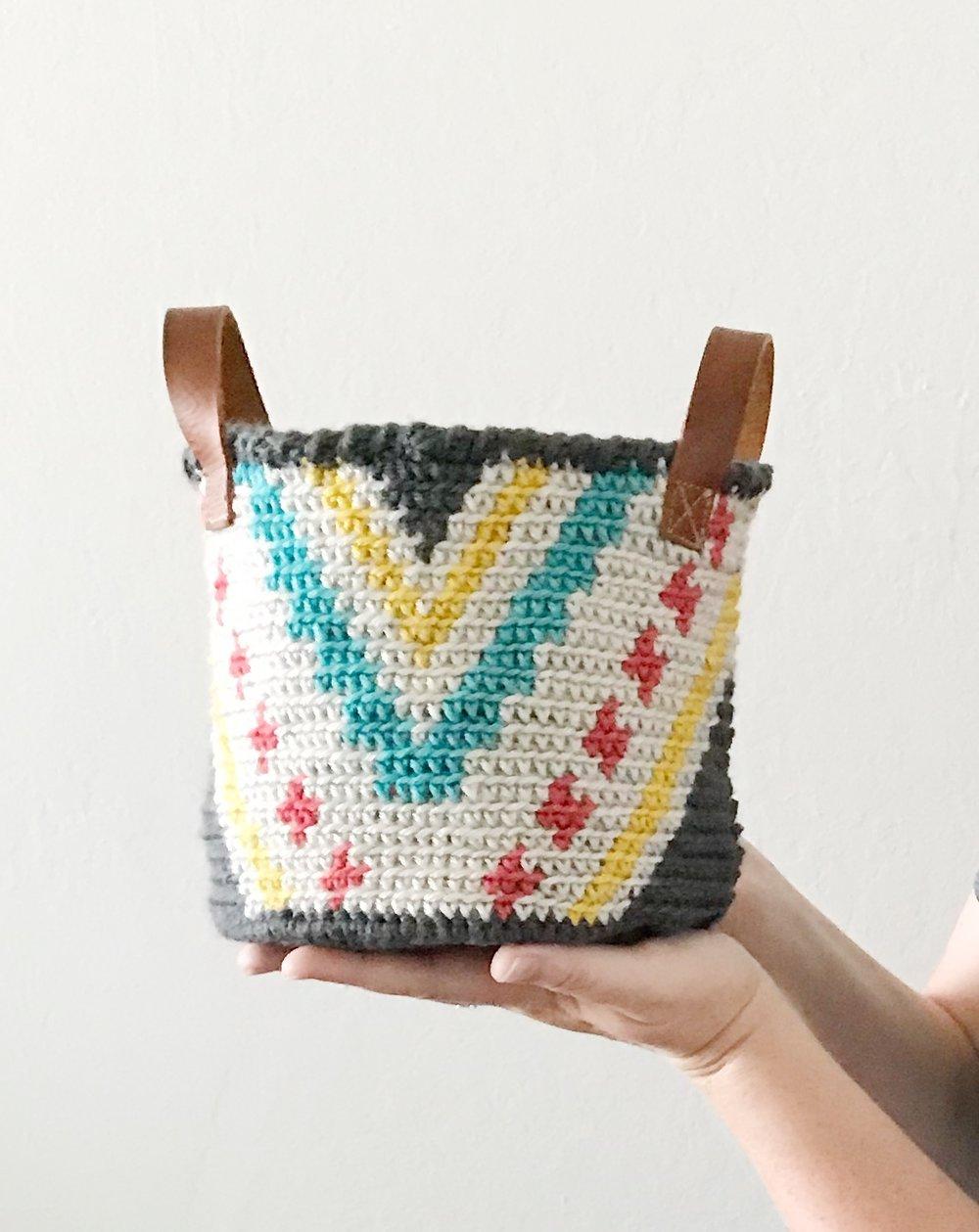 The Phoenix Basket Free Crochet Pattern Meghan Makes Do