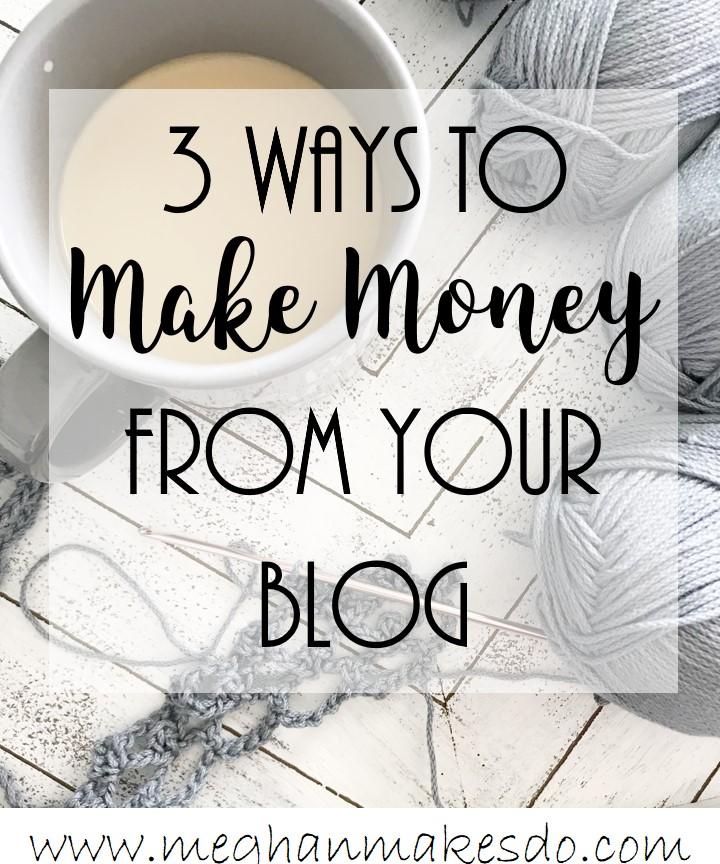 ways to make money blogging