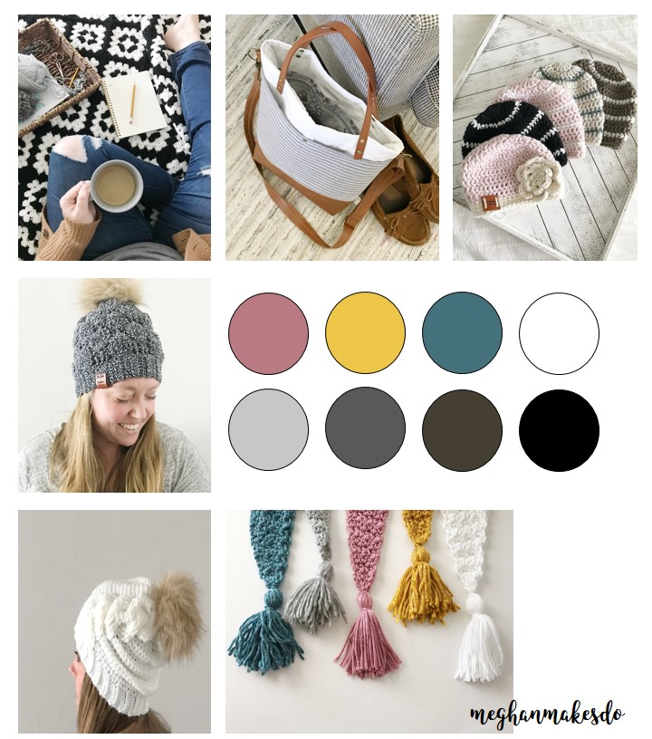 Here is an example of what an inspiration board for my current stock would look like.