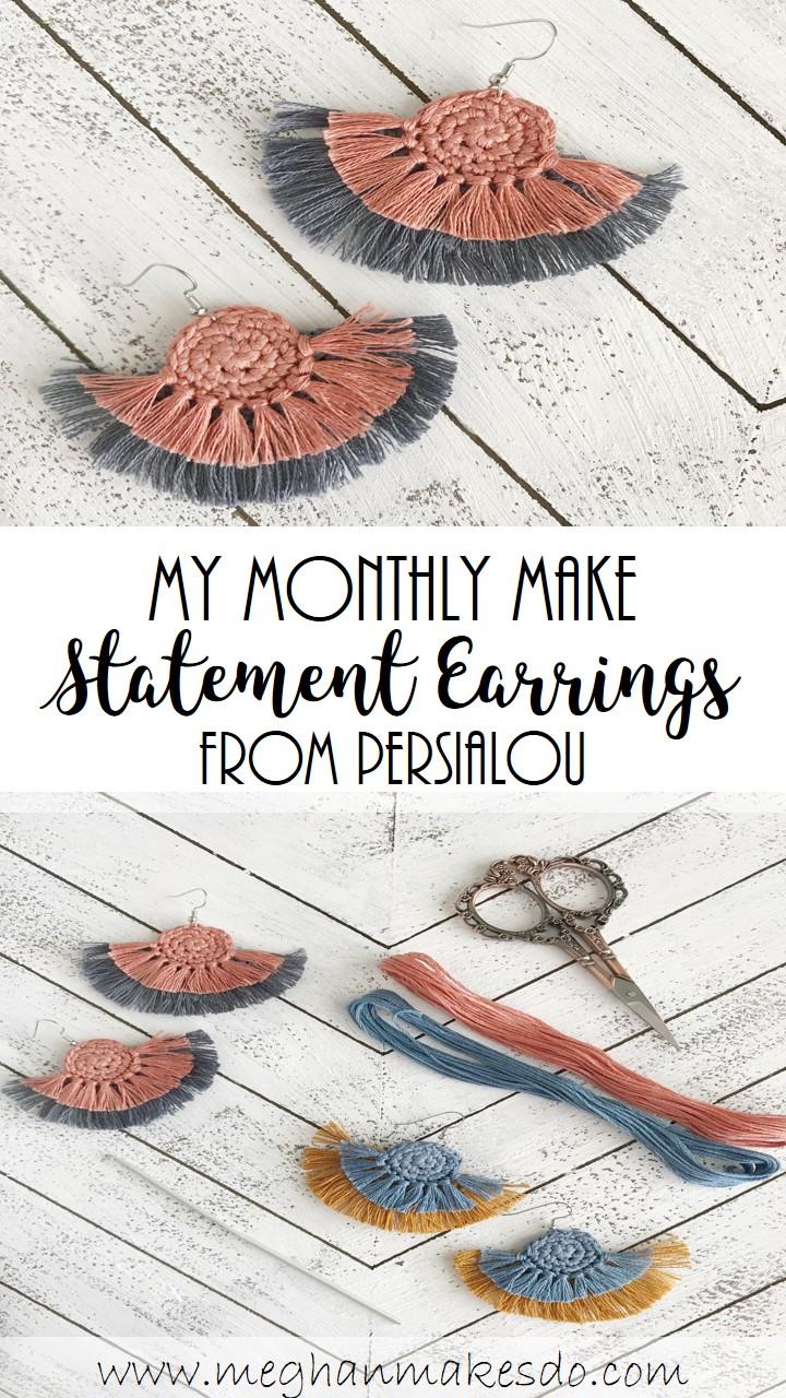 crochet statement earrings