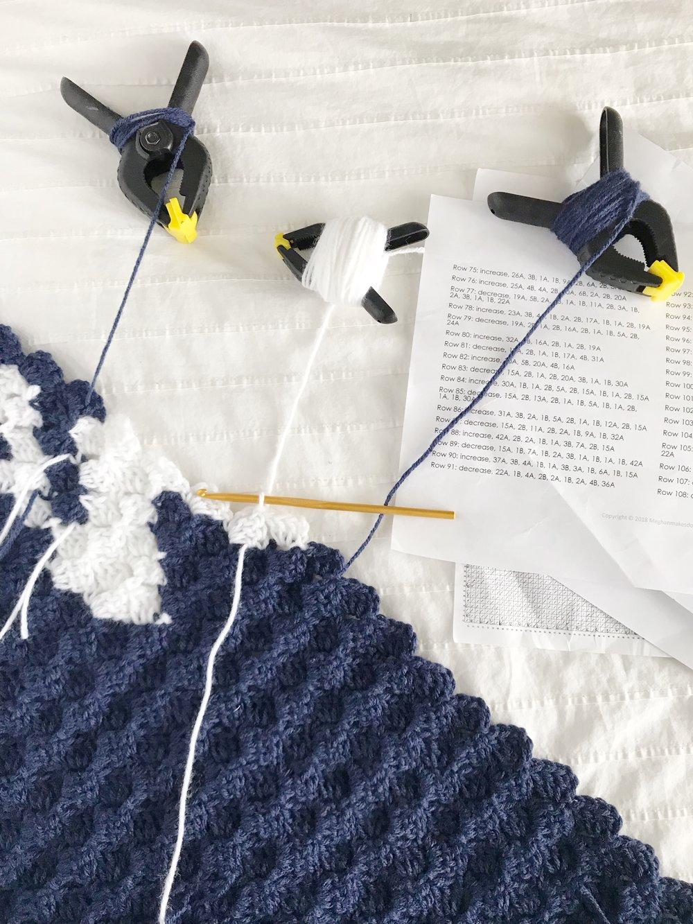 Changing Color In Corner To Corner Crochet Meghan Makes Do