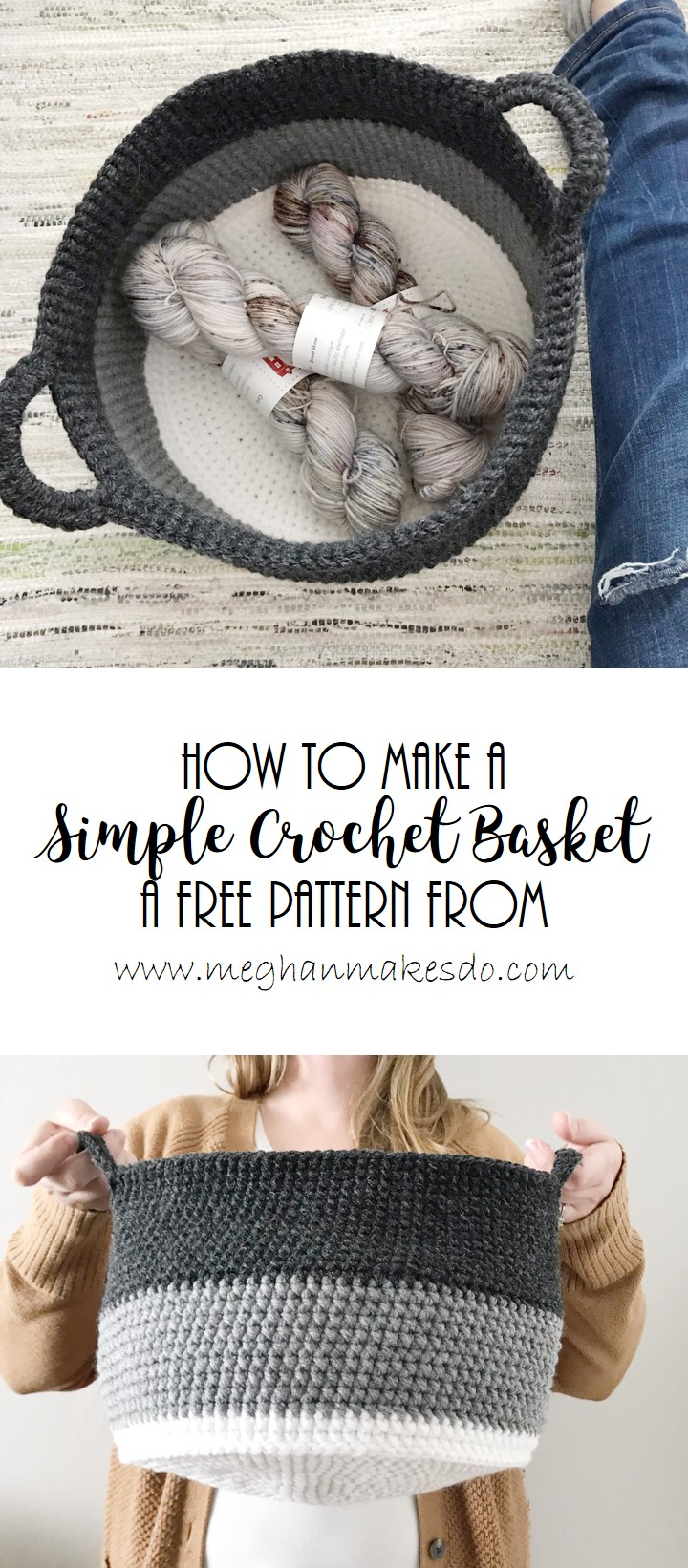 simple basket crochet pattern