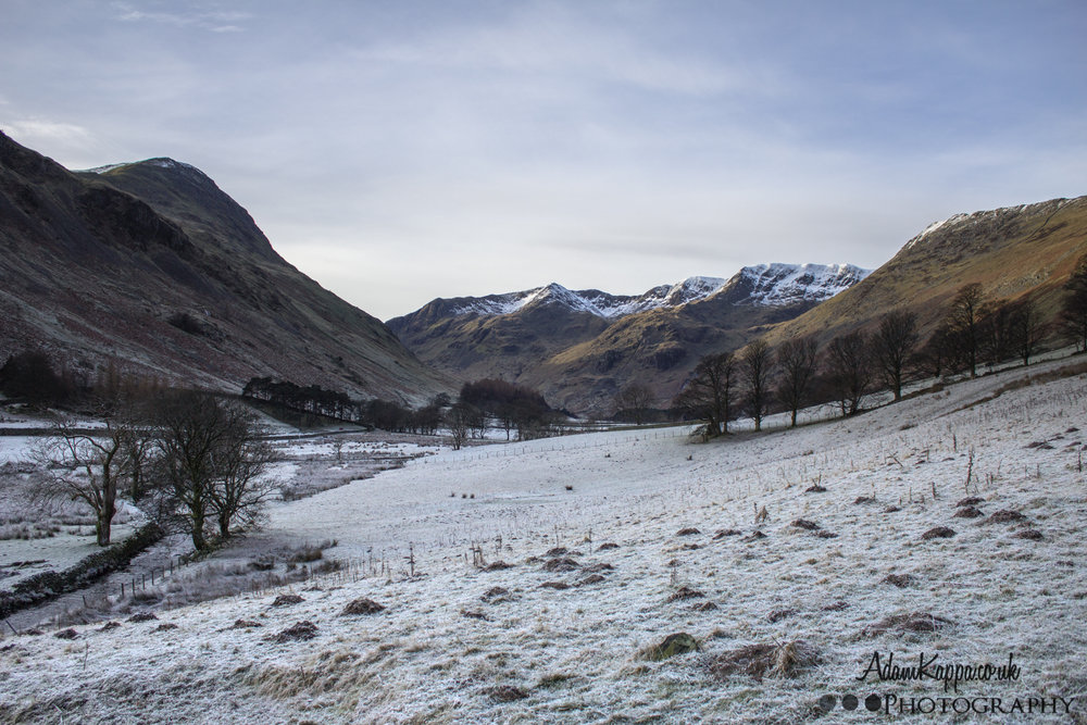 Grisedale valley on a winters morning