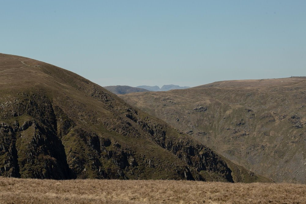 - From the top of here you could see across to Scafell and Scafell Pike- the longest lens I had was a 135mm so I couldn't get as close as I would of liked but it's enough to prove the point.