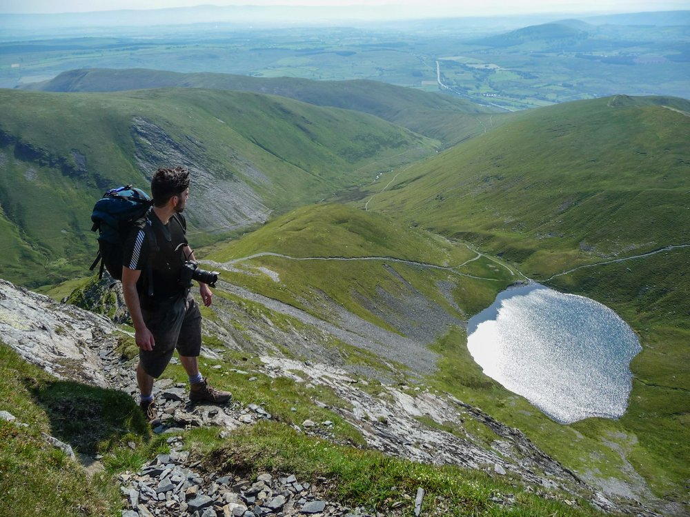 Taking in the views after climbing sharp edge, blencathra