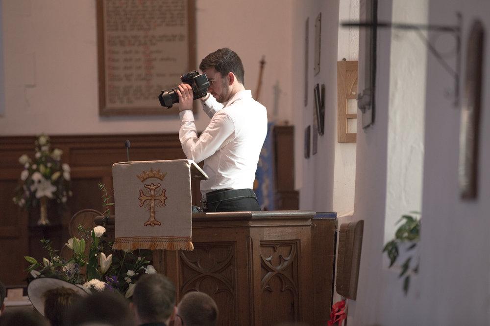 behind the scenes wedding