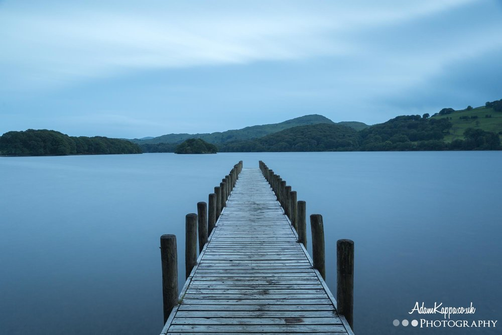 coniston water long exposure