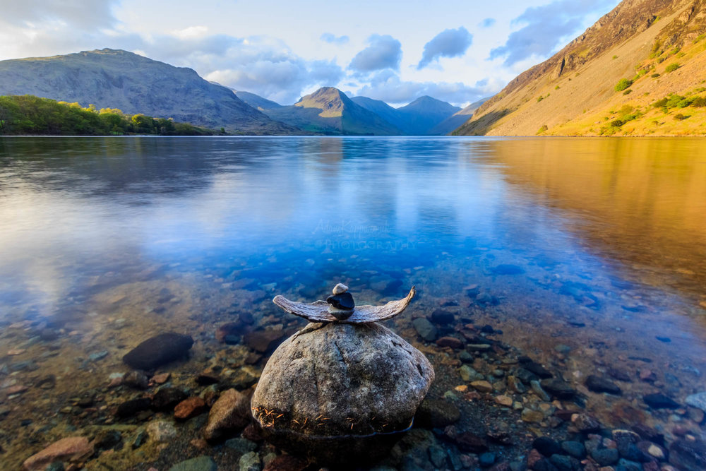 Reflections on Wastwater. The Lake District