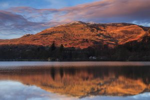 Reflections On Coniston Water. The Lake District