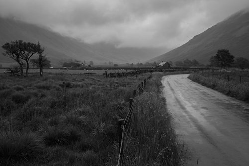 A Moody Wasdale Valley. The Lake District