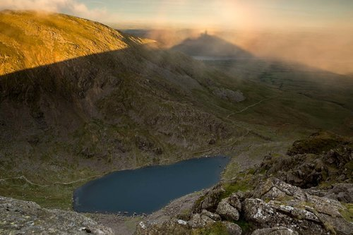 Brocken Spectre Over Goats water. The Lake District