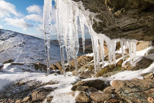 Frozen On Coniston Old Man. The Lake District
