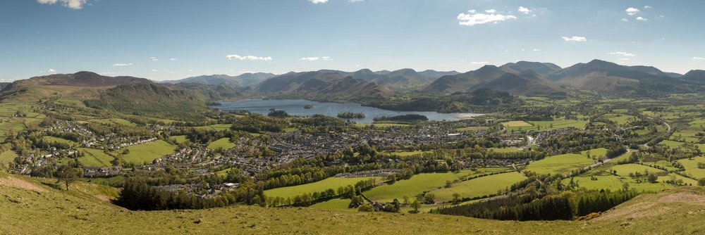Keswick From Latrigg Panorama