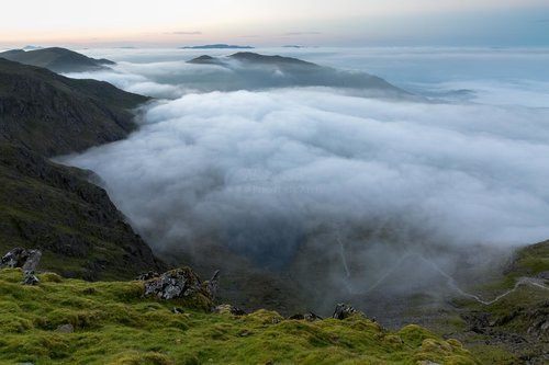 Low Water Below The Clouds On Coniston Old Man