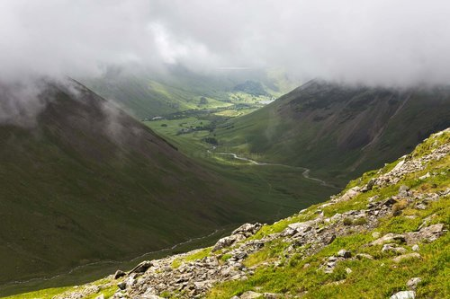 Wastwater Through The Clouds. The Lake District