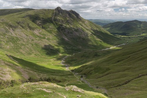 Walking Down Rossett Ghyll. Great Langdale