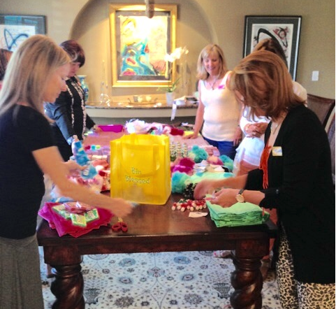 Putting together our Mother's Day Donations - Such Fun!