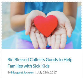 """It all started with a plastic bin on the front porch… - """"We put out the green bins and share our blessings,"""" said DeBoer, who calls the volunteers Bin Babes. """"People are generous and want to give. Bin Blessed makes it simple."""""""