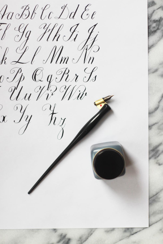 Calligraphy Coperplate