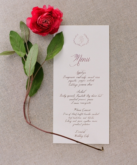California Wedding Calligrapher