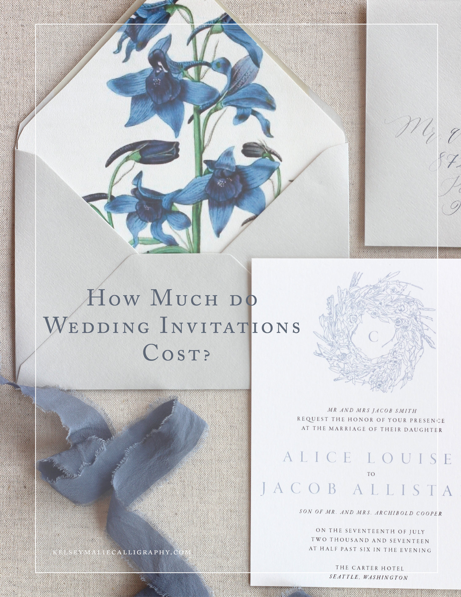 How Much Do Wedding Invitations Cost Kelsey Malie Calligraphy