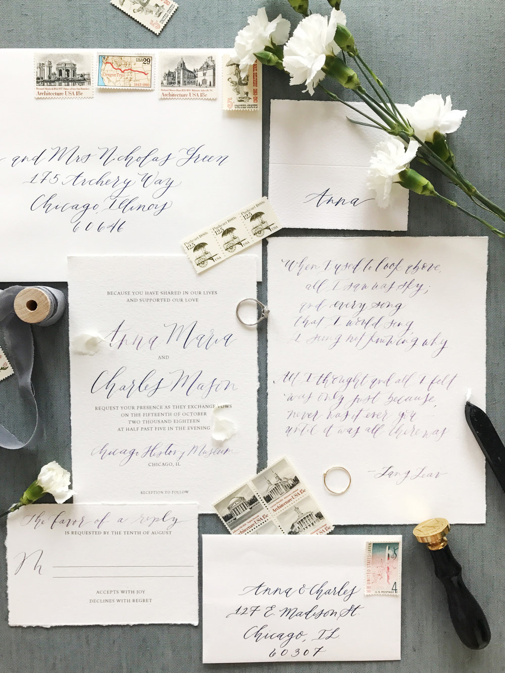Flat-Lays: How to Style Wedding Invitation Suites — Kelsey Malie ...