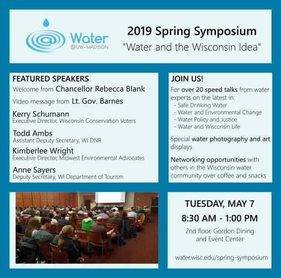 2019 Water@UW-Madison Spring Symposium — Wisconsin