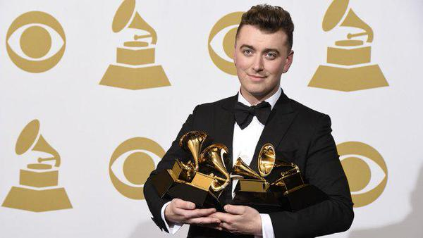 Newcomer Sam Smith steals spotlight and sweeps major categories at 2015 Grammy Awards