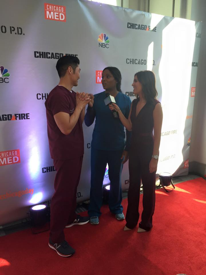 Actor Brian Tee (L) and actress Marlyne Barrett (R).