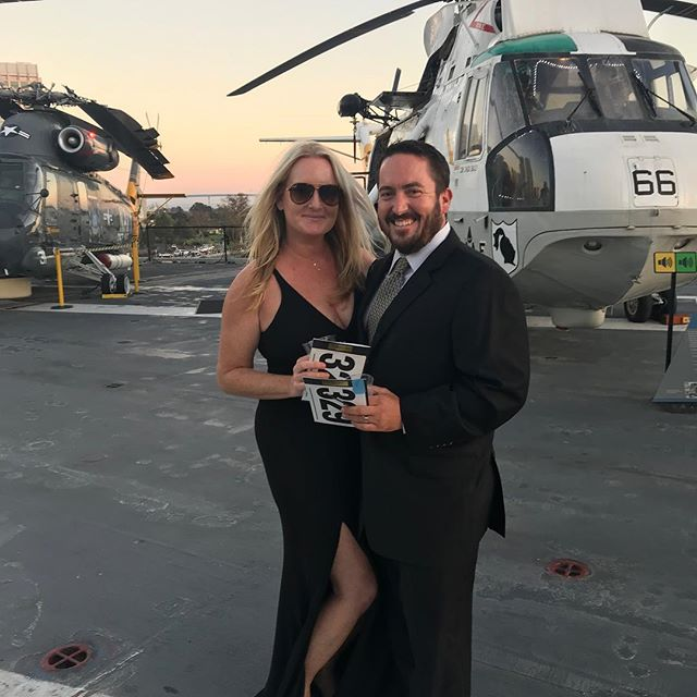Got this guy out of jeans and work boots 😍! Enjoying an evening out at The Stars and Stripes Soirée benefiting Veteran's Village San Diego. Thank you Dr. Leslie and Dr. Scott Strommer for inviting us!