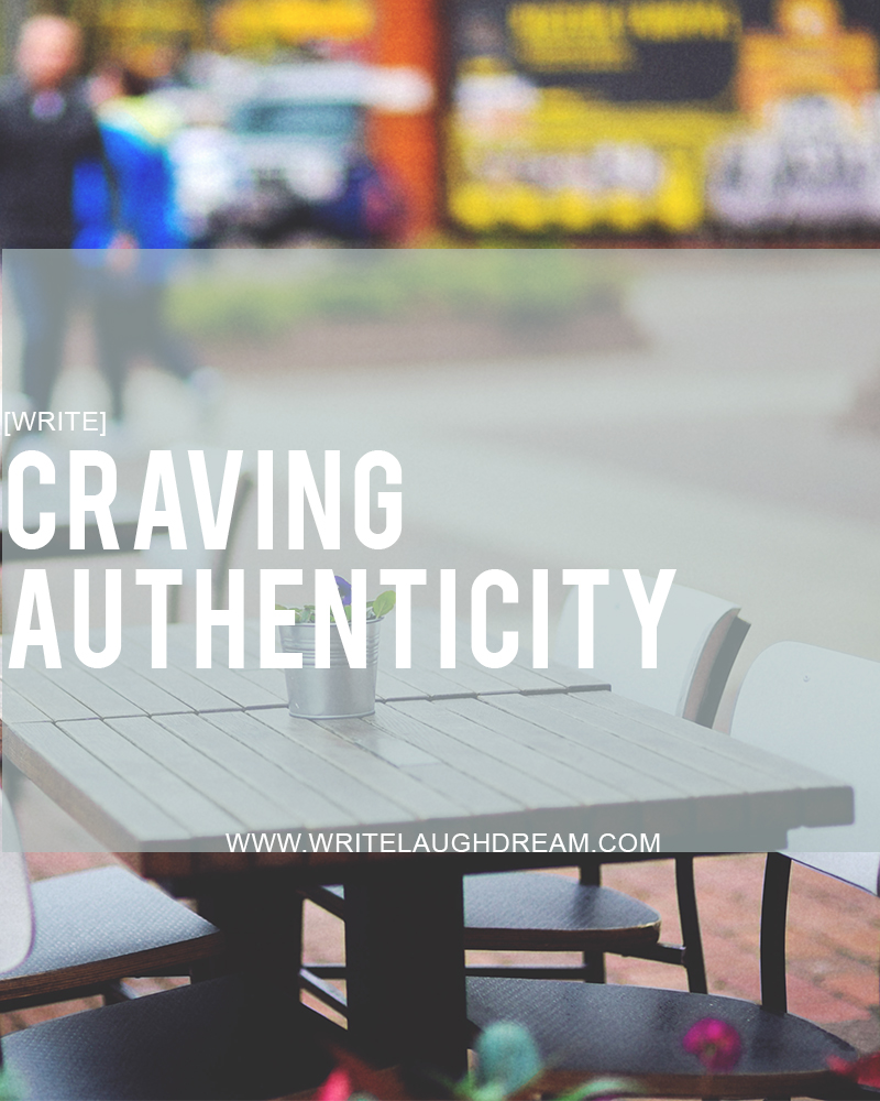 Getting Older and Craving Authenticity