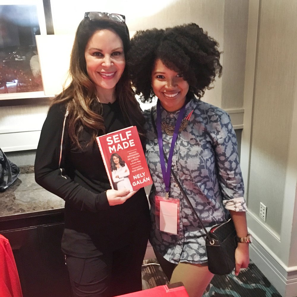 "Nely Galan was an amazing speaker. ""Don't buy shoes, buy buildings."""