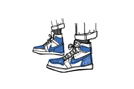 """Blue Nikes"" Print - commissioned artwork"