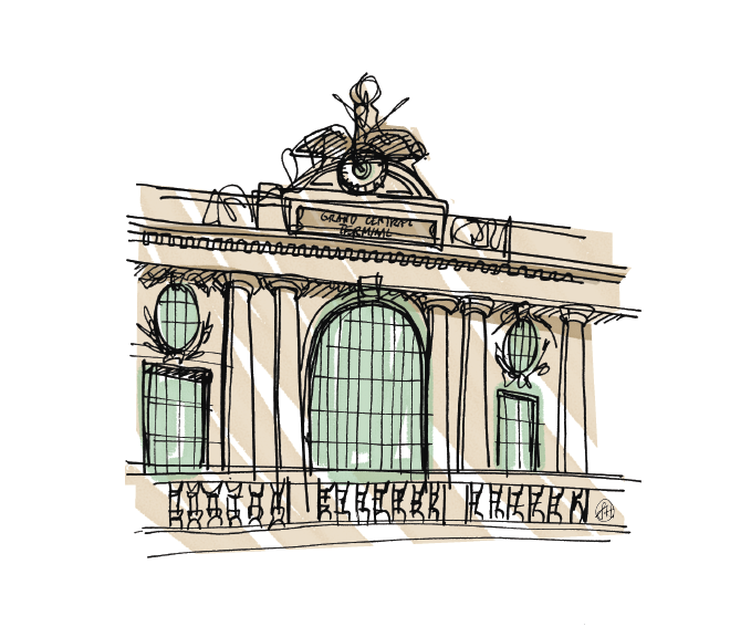 """Grand Central Station"" - Print commissioned artwork"