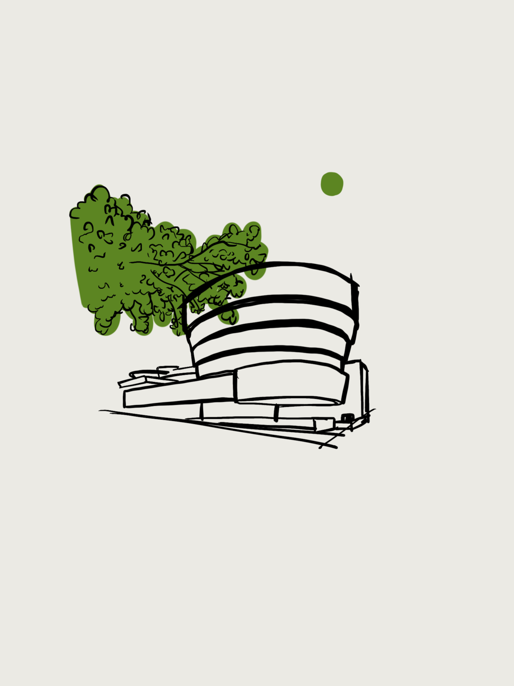 Guggenheim - Digital Illustration