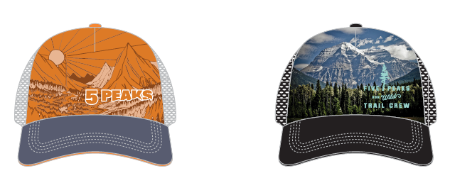 The swag item for this race is a custom 5 Peaks Trucker!  Get there early to choose the one you want. All Seasons Pass and registered Sport and Enduro racers will get one!