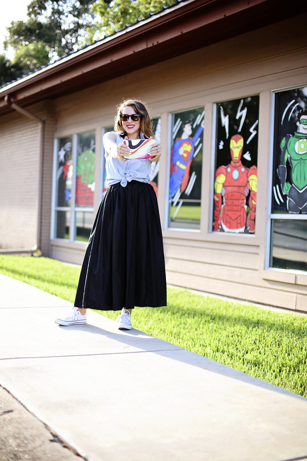 Vintage Black skirt with converse 1.jpg