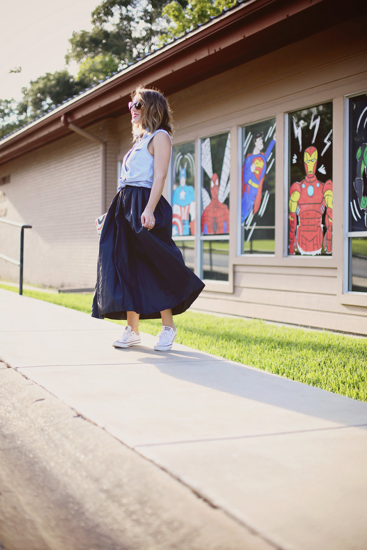vintage black skirt with converse 4.jpg