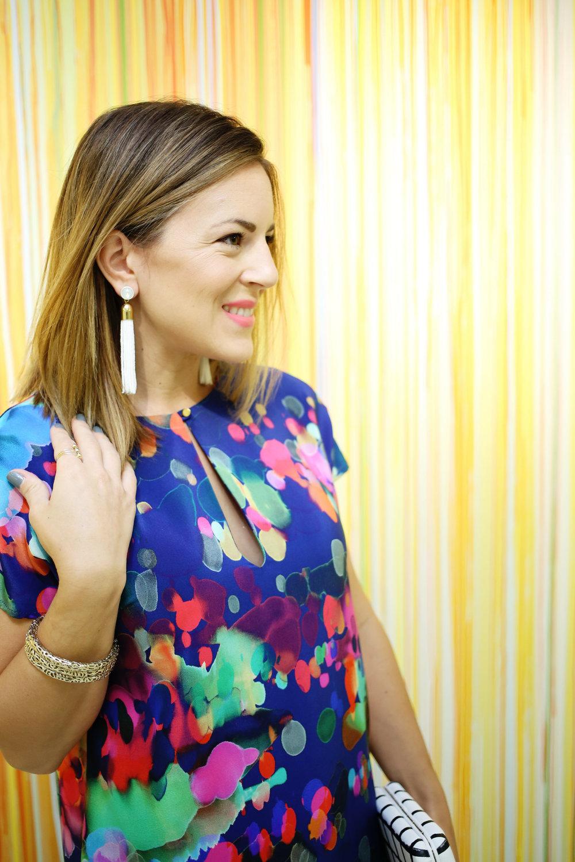 amanda uprichard watercolor dress white tassel earrings.jpg