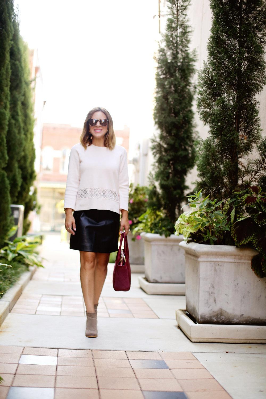 blush pink jcrew top leather skirt.jpg