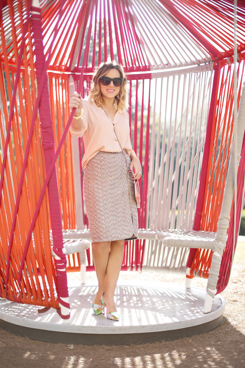 jcrew tweed skirt:julie vos and chanel purse 4.jpg