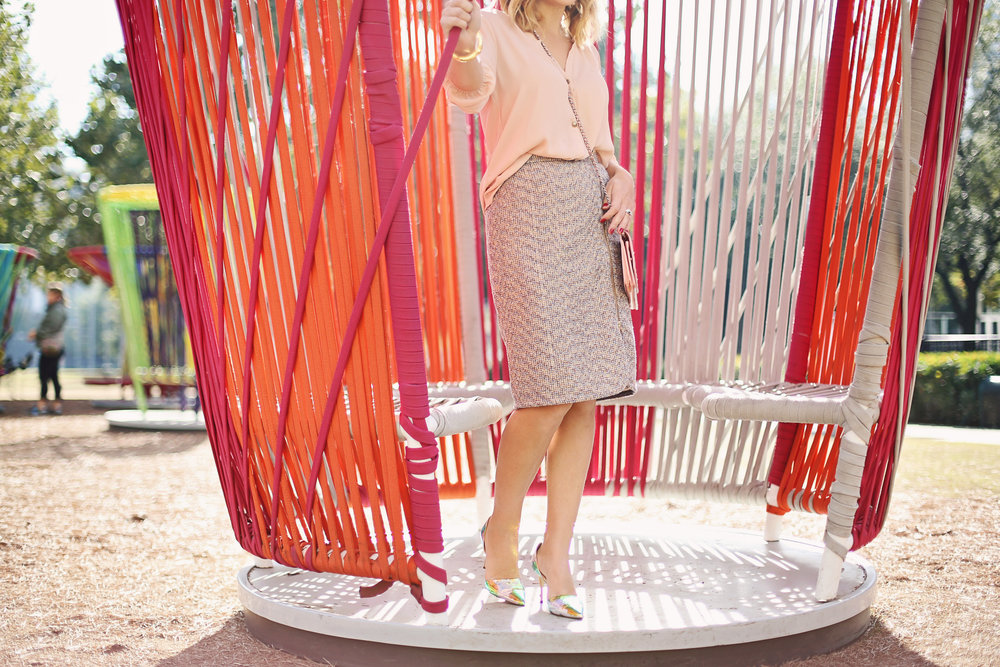 jcrew tweed skirt:julie vos and chanel purse.jpg