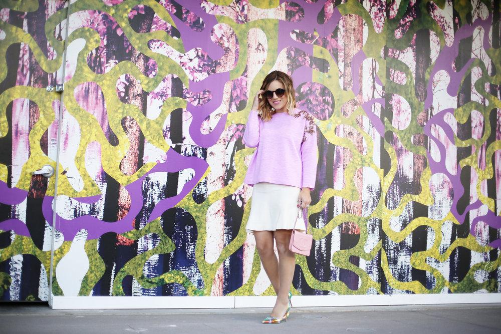 jcrew sweater, white chanel skirt, pink chanel crossbody and jcrew jacket 7.jpg
